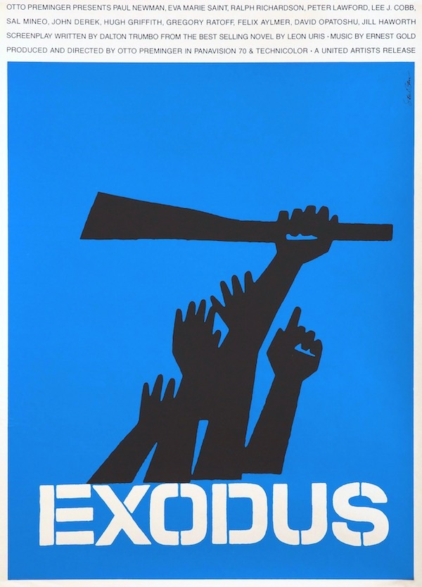Exodus Saul Bass Original Vintage Movie Poster Silkscreen