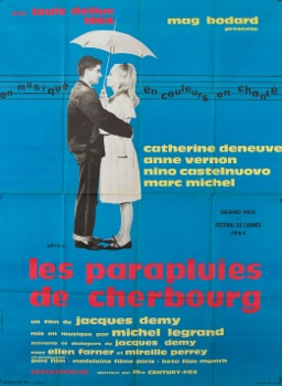 The Umbrellas of Cherbourg Vintage Movie Poster