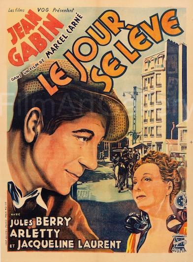 Le Jour Se Leve Original Vintage Movie Poster