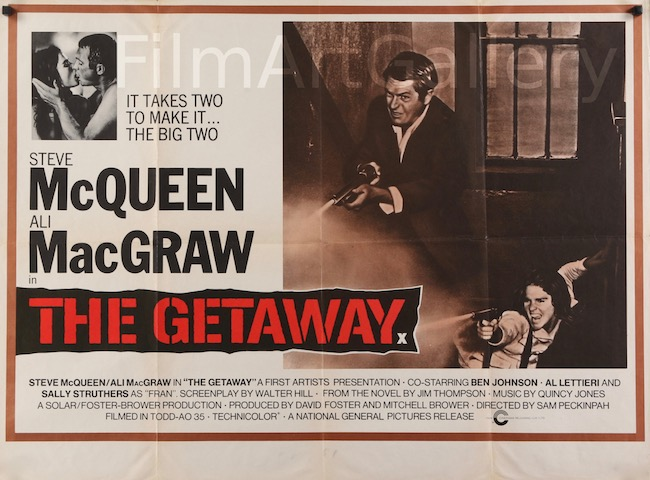The Getaway Original Vintage Movie Poster