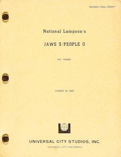 Jaws Three 3 People National Lampoon Original Vintage Movie Poster