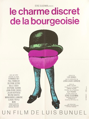 The Discreet Charm of the Bourgeoisie Original Vintage Movie Poster