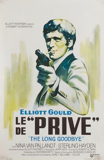 The Long Goodbye Le Prive Elliott Gould Vintage Original Movie Poster