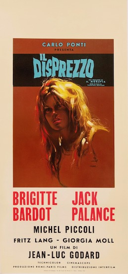 Contempt Le Mepris Il Disprezzo Original Vintage Movie Poster
