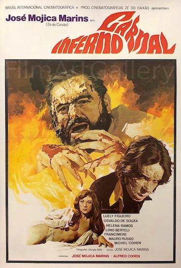 Inferno Carnal Hellish Flesh Original Vintage Movie Poster