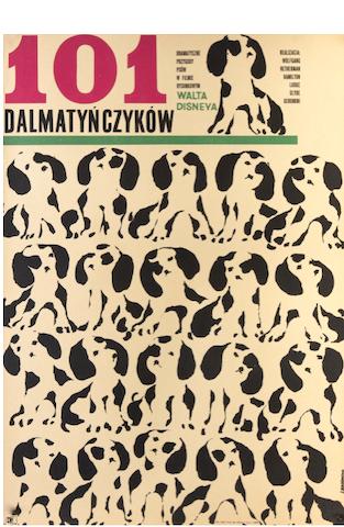 101 Dalmatians Original Vintage Movie Poster