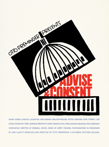 Advise and Consent Saul Bass Original Vintage Movie Poster Silkscreen