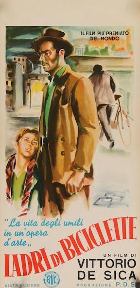 The Bicycle Thief Ladri Di Biciclette Original Vintage Movie Poster