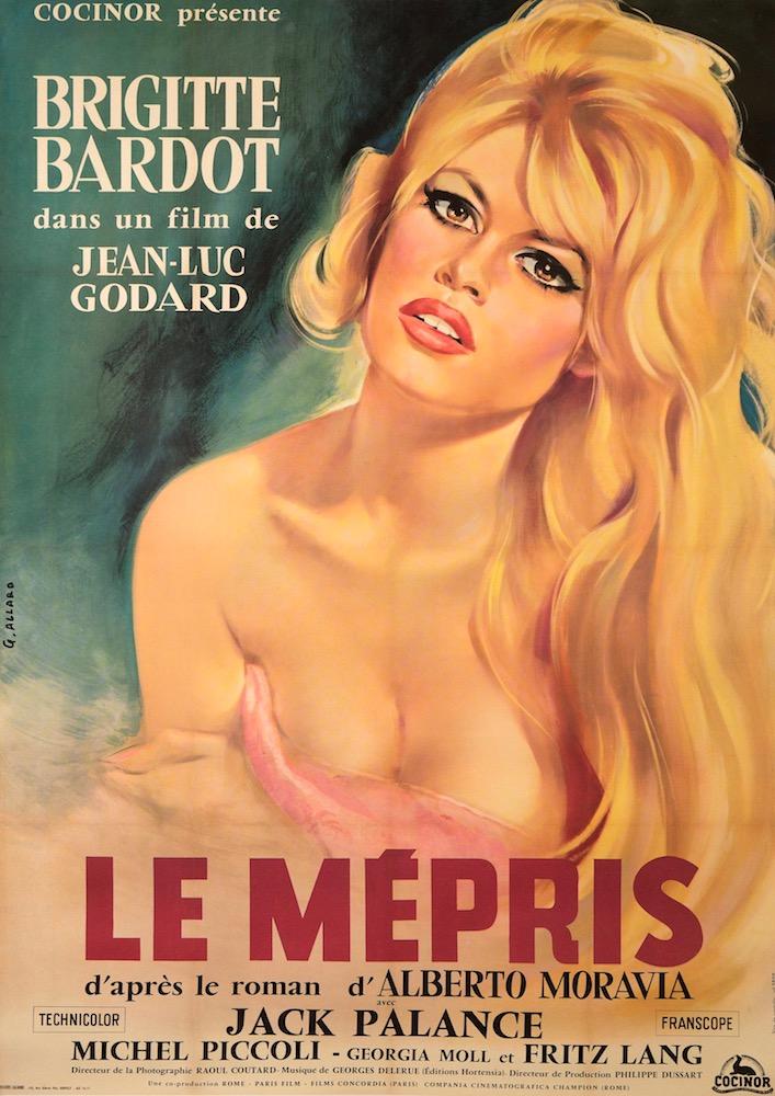 Contempt Le Mepris Original Vintage Movie Poster
