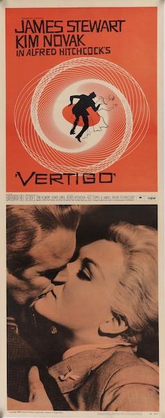 Alfred Hitchcock Vertigo Original Vintage Movie Poster