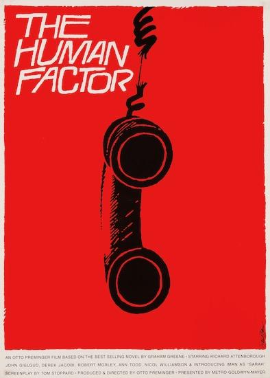 The Human Factor Saul Bass Original Vintage Movie Poster