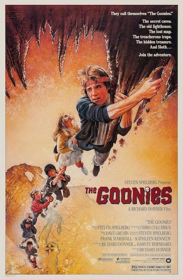 The Goonies Steven Spielberg Vintage Original Movie Poster