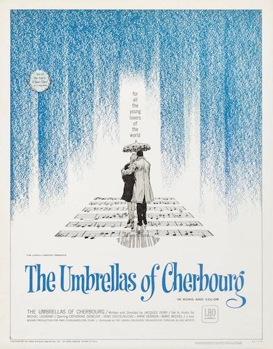The Umbrellas Of Cherbourg Les Parapluies De Original Vintage Movie Poster