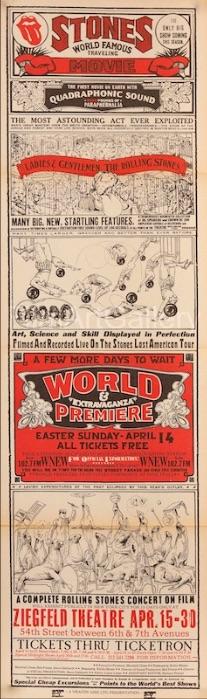Ladies Gentlemen The Rolling Stones Original Vintage Movie Poster