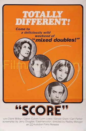 Score Original Vintage Movie Poster