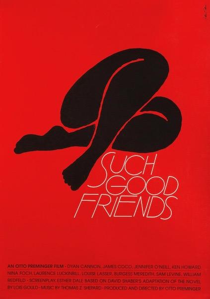 Such Good Friends Saul Bass Silkscreen Original Vintage Movie Poster