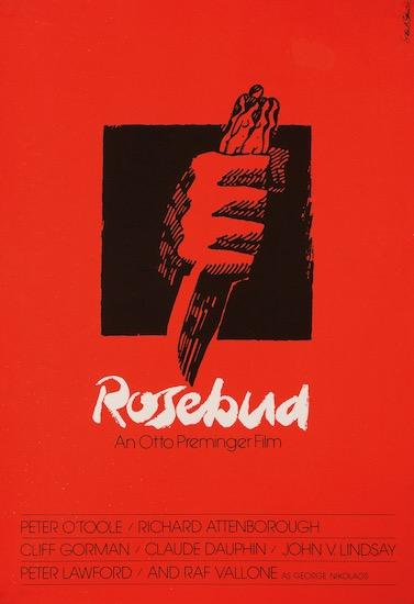 Rosebud Saul Bass Silkscreen Original Vintage Movie Poster
