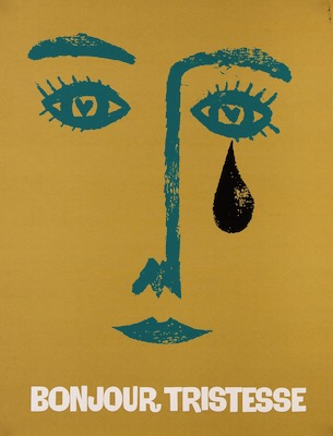 Bonjour Tristesse Saul Bass Original Vintage Movie Poster