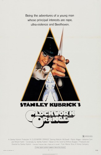 Stanley Kubrick A Clockwork Orange Original Vintage Movie Poster