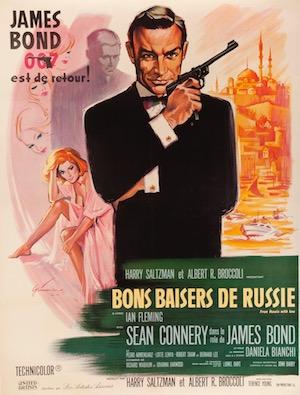 James Bond 007 Vintage Movie Poster