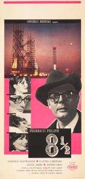 8 and a Half Original Vintage Movie Poster