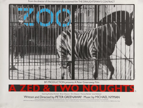 A Zed Two Noughts Original Vintage Movie Poster