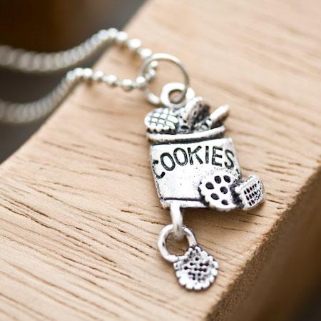 Breloque Boîte à Cookies Argent vieilli