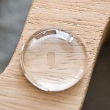 Cabochon en verre transparent Rond 2,0cm
