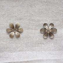 Collerette 16mm Bronze vieilli Fleur x 100