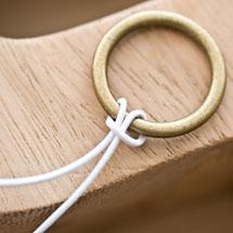 Cordon élastique 1mm Blanc