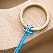 Cordon élastique 1mm Bleu