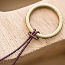 Cordon élastique 1mm Marron