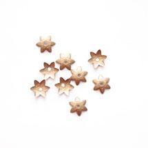 Collerette Fleur 8mm Bronze x 100