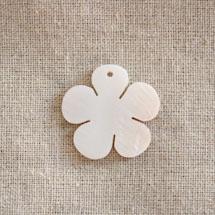 Pendentif Nacre Fleur Blanc