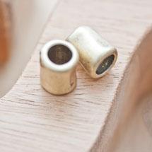 Perle en métal Tube 14x11mm Bronze vieilli