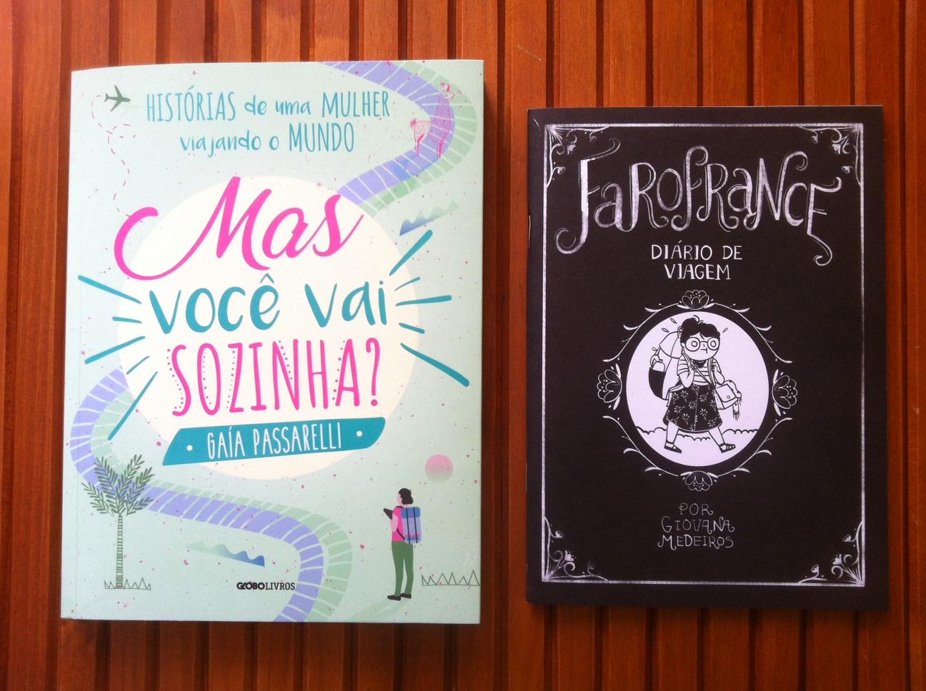 """Imagem do livro """"Mas você vai sozinha?"""" e do fanzine """"Farofrance"""""""