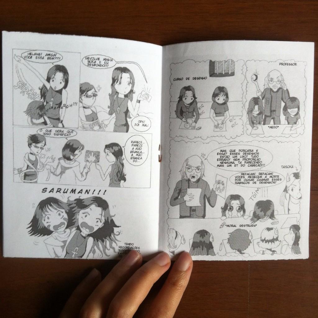 Página interna do zine com trecho da história em quadrinhos