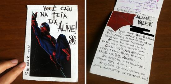 FB com capa do Homem-Aranha, e imagem da primeira página com minha apresentação