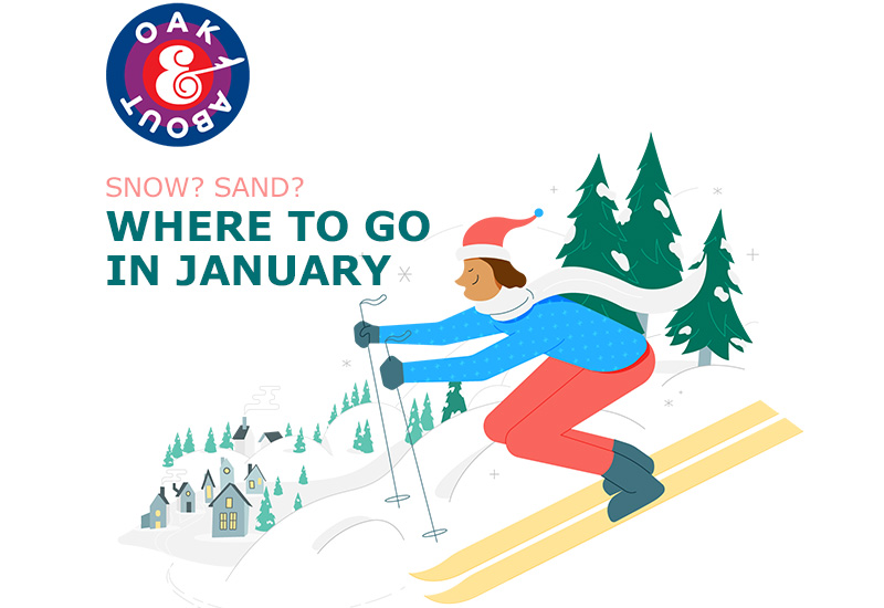 Sand? Snow? Where to go in January.