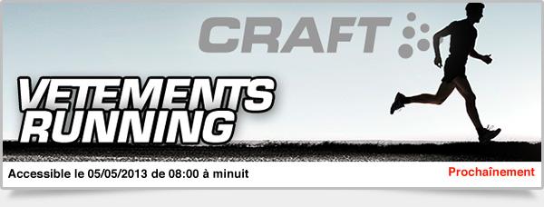 Prochainement: Vêtements Running Craft