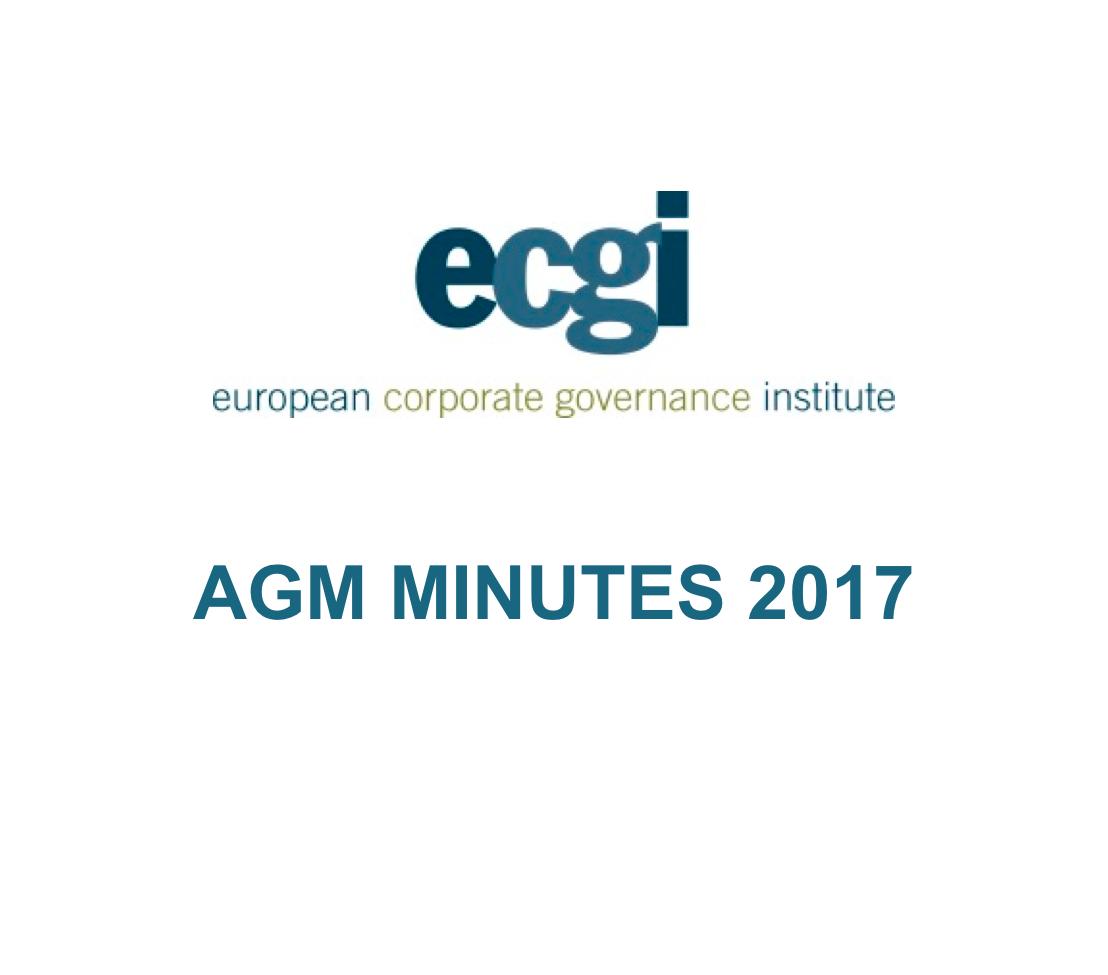 ECGI Minutes AGM