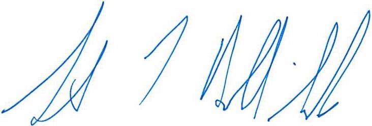 University Librarian's signature