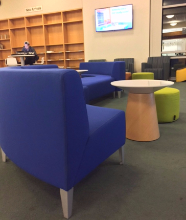 New furniture in Orbach Science Library creates comfortable collaboration spaces