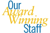 Our Award-Winning Staff