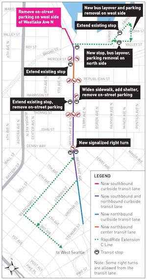 Transit Changes Map