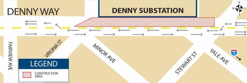 Denny Substation - Lane Closure
