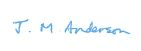 Janet Anderson PSM signature