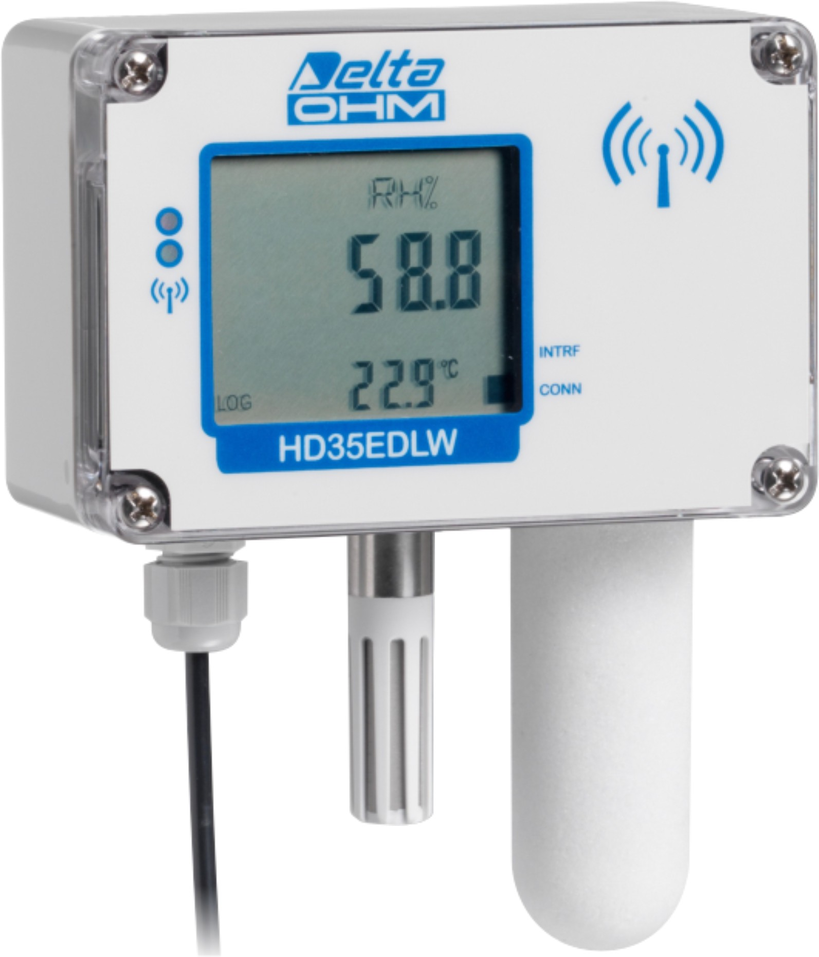 Temperature, humidity and CO2wireless data logger