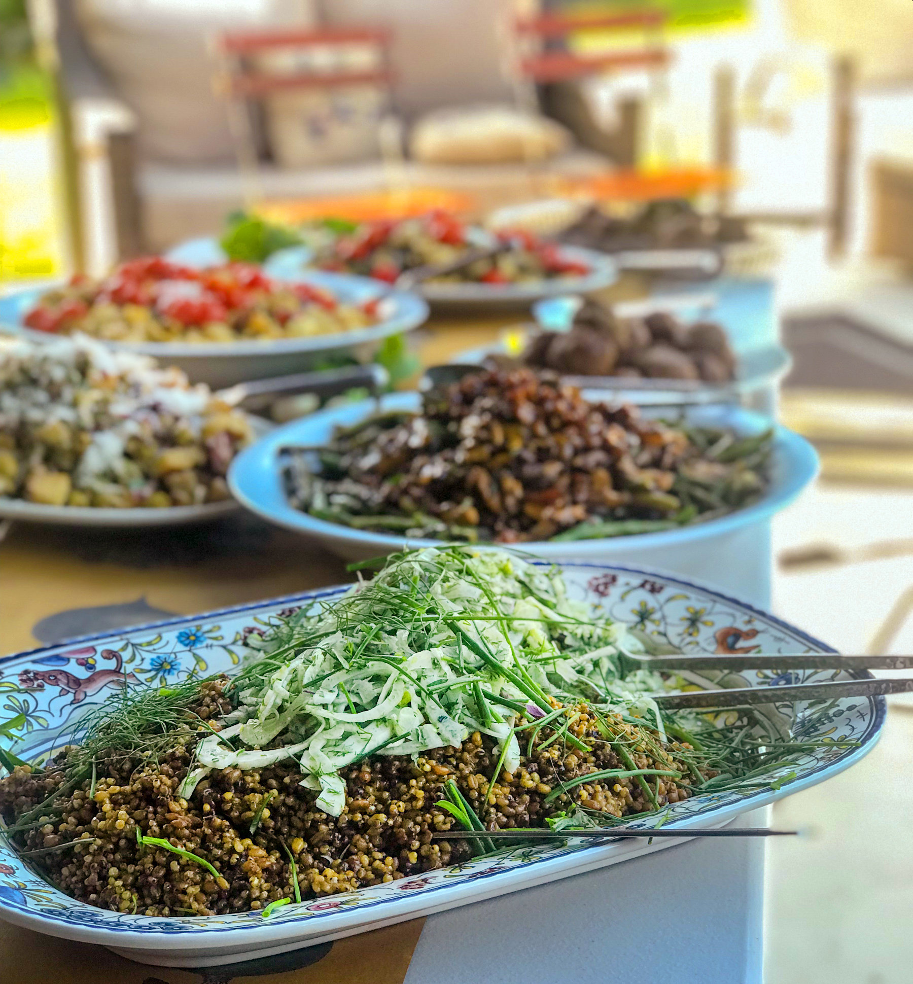 Plant-forward dishes from the PFCC feast