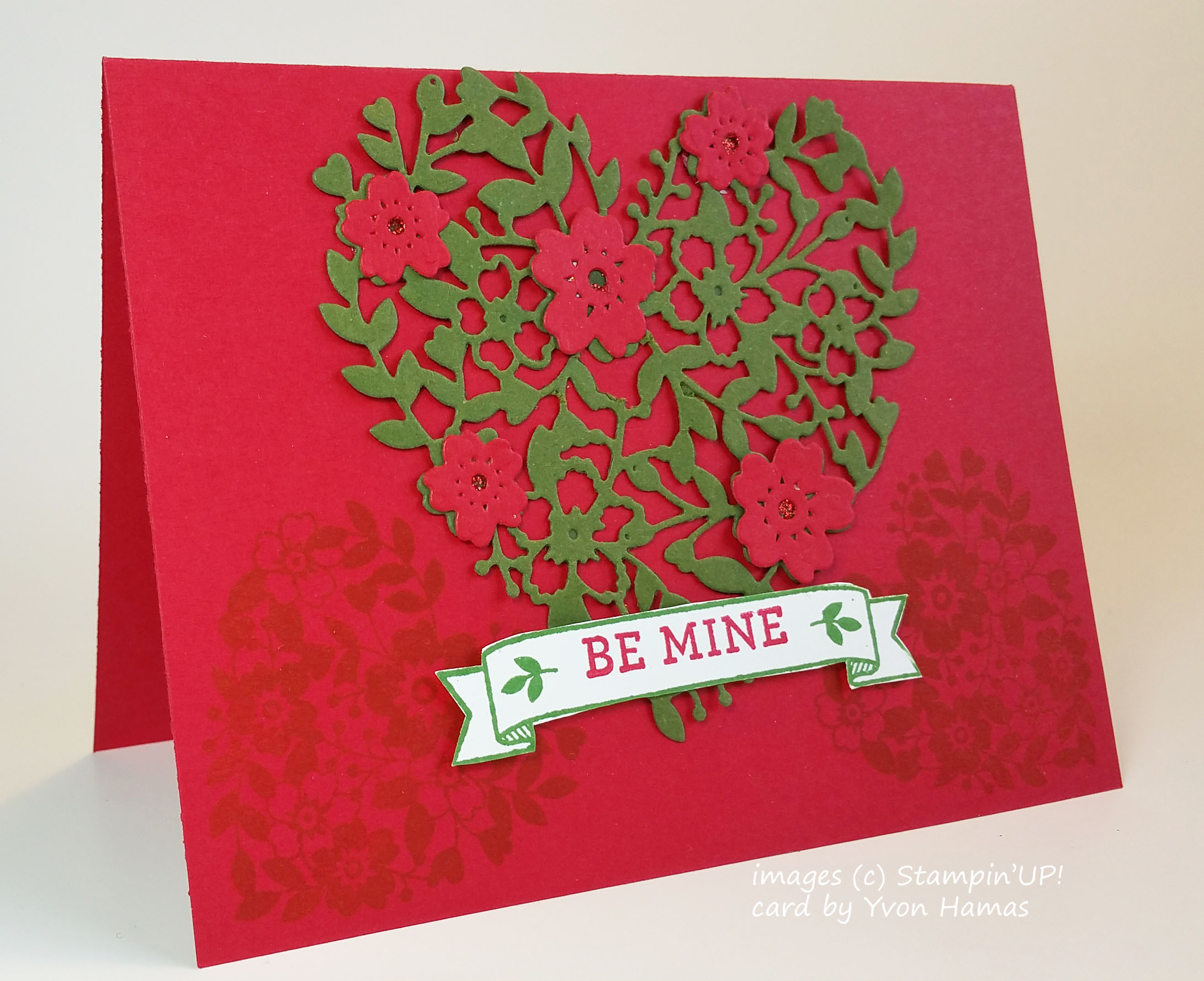 Valentine Heart Cards made with Stampin'UP!'s Bloomin Heart Thinlit Die